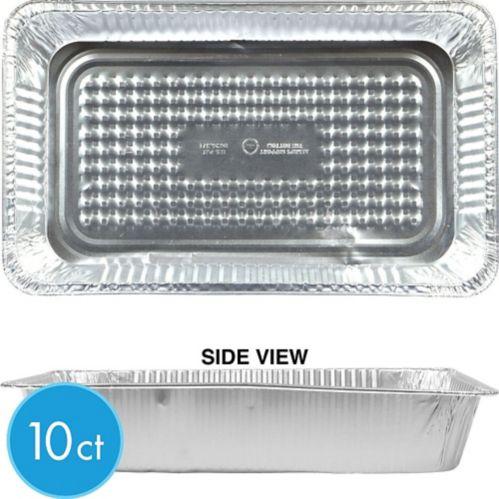 Plat réchaud à vapeur en aluminium, plein format