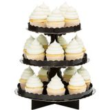 Présentoir à petits gâteaux, noir | Amscannull