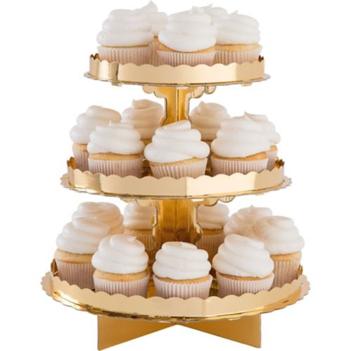 Présentoir à petits gâteaux, doré Image de l'article