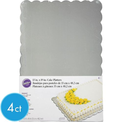 Silver Platters, 4-pk Product image