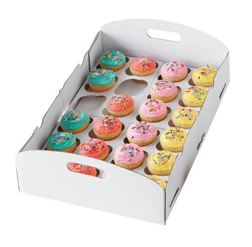 Boîte de transport pour petits gâteaux de Wilton, blanc Image de l'article