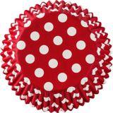 Moules à petits gâteaux à pois rouges, paq. 75 | Amscannull