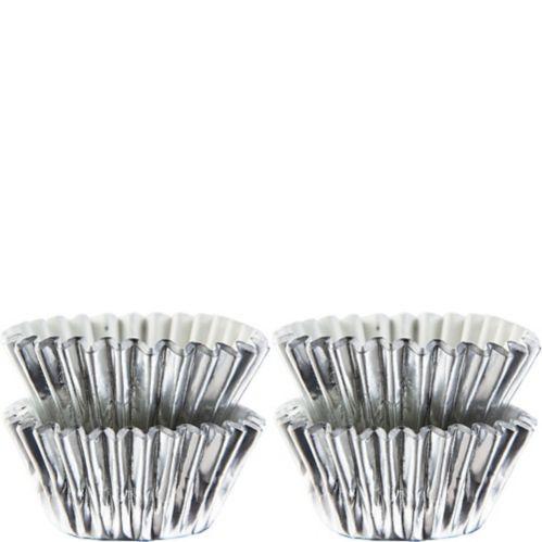 Mini Baking Cups, Silver, 75-pk