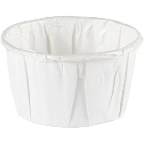 Mini gobelets de noix avec plis, blanc, paq. 36