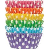 Rainbow Polka Dot Baking Cups, 150-ct | Amscannull