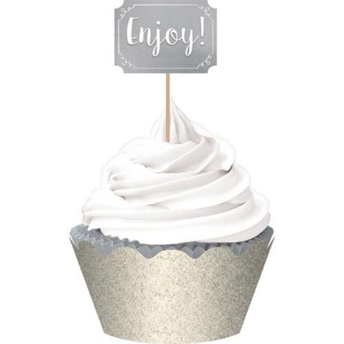 Décorations à petits gâteaux, argenté, paq. 72 Image de l'article