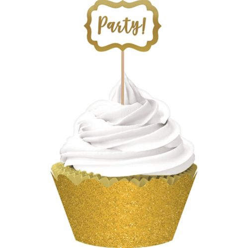 Cupcake Decorating Kit, Gold, 72-pc