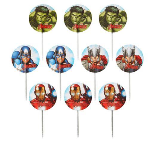 Pics décoratifs amusants de petits gâteaux Avengers Wilton, paq. 24 Image de l'article
