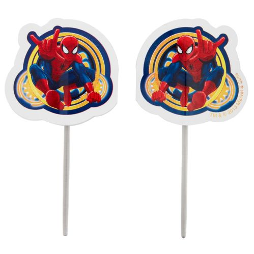 Wilton Ultimate Spider-Man Fun Picks Cupcake Toppers, 24-pk