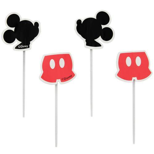 Pics décoratifs amusants de petits gâteaux Mickey Mouse Wilton, 3po, paq. 24