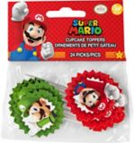Pics décoratifs amusants de petits gâteaux Super Mario Bros Wilton, paq. 24 | Wiltonnull