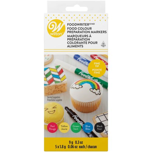 Wilton FoodWriter Edible Fine Tip Primary Colour Marker, 5-pk Product image