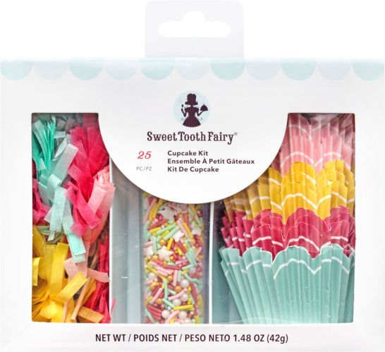 Sweet Tooth Fairy Pom-Pom Cupcake Decorating Kit for 12 Product image