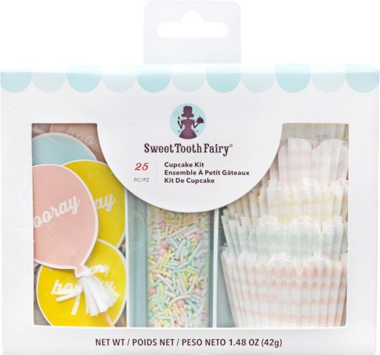 Sweet Tooth Fairy Hooray Cupcake Decorating Kit for 12 Product image
