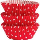 Moules en papier à pois pour petits gâteaux de Wilton, rouge, paq. 75 | Wiltonnull