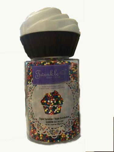 Twinkle Triplet Sprinkler, Rainbow, 180-g Product image
