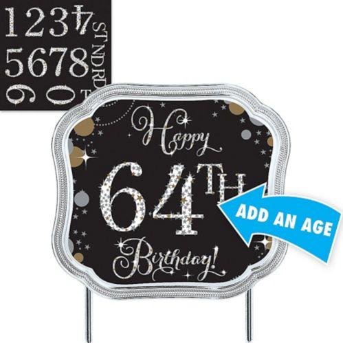 Sparkling Celebration Birthday Cake Topper Kit