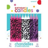 Animal Print Birthday Candles, 10-pk | Amscannull