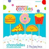 Bougies d'anniversaire sur pique nourriture, paq. 5 | Amscannull