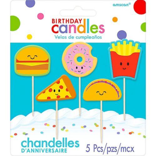 Bougies d'anniversaire sur pique nourriture, paq. 5 Image de l'article
