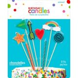 Colourful Icons Birthday Candles, 8-pc | Amscannull