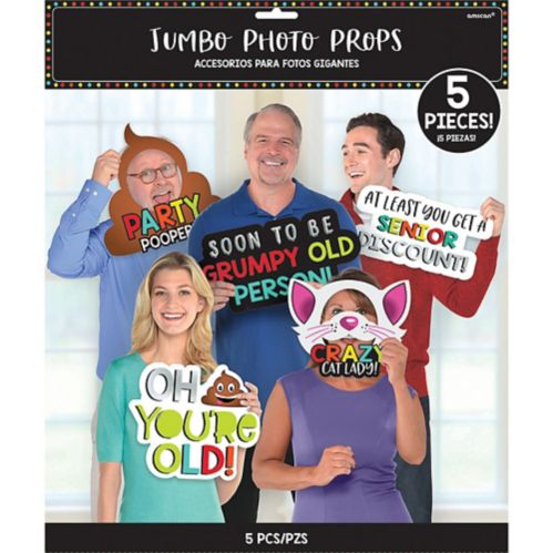 Jumbo Over the Hill Photo Booth Props, 5-pc