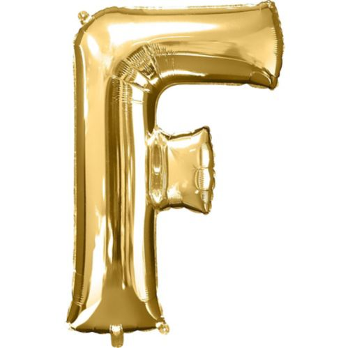 Gold Letter Balloon
