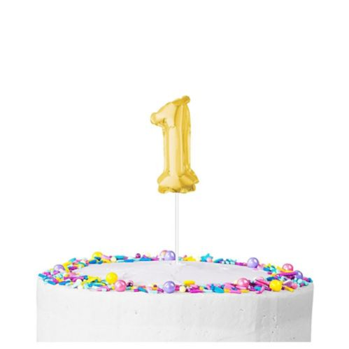 Gold Balloon Cake Toppers Product image
