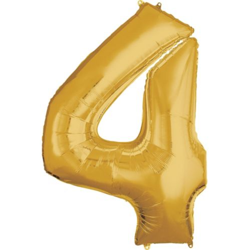 Number Balloon, 50-in, Gold