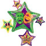 Stars Mardi Gras Balloon, 35-in