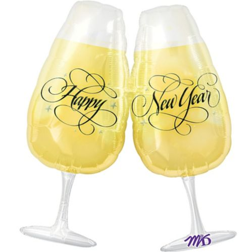 Foil New Year's Toast Balloon, 30-in