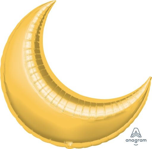 Gold Crescent Balloon, 35-in Product image