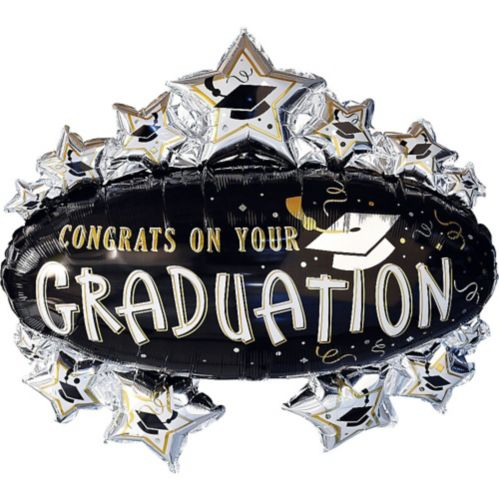 Congrats Grad Marquee Graduation Balloon, 31-in