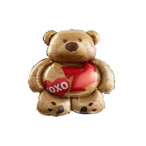 XOXO Teddy Bear Balloon, 28-in
