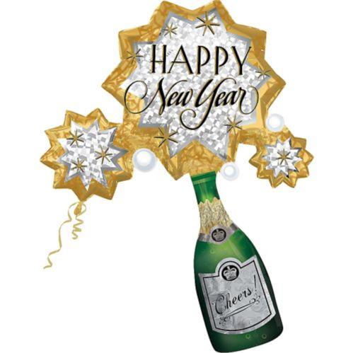 Ballon Bonne et heureuse année, Éruption de champagne, 46po