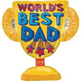 Foil World's Best Dad Trophy Balloon, 35-in | Amscannull
