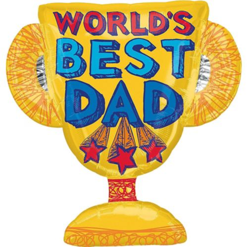 Foil World's Best Dad Trophy Balloon, 35-in