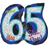 Giant Oh No! 65th Birthday Balloon
