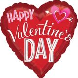 Valentine's Day Heart with Arrow Balloon, 28-in | Amscannull