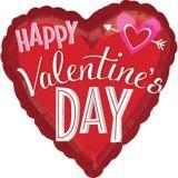 Ballon en coeur avec flèche pour la Saint-Valentin, 28 po | Amscannull