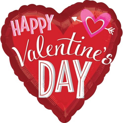 Valentine's Day Heart with Arrow Balloon, 28-in