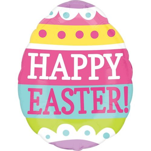 Happy Easter Egg Balloon, 25-in