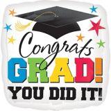 Ballon de félicitations pour finissants, Congrats Grad, 32 po | Amscannull