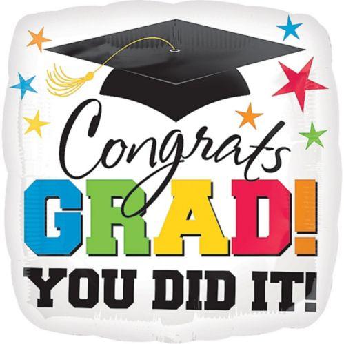 Ballon de félicitations pour finissants, Congrats Grad, 32 po