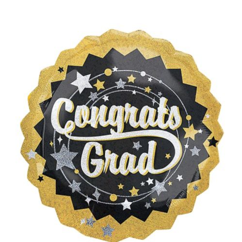 Holographic Congrats Grad Graduation Balloon, 32-in