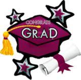 Star Graduation Cap Graduation Balloon, 31-in | Amscannull