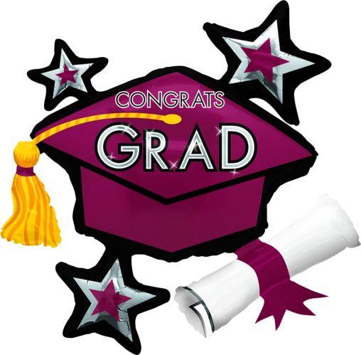 Star Graduation Cap Graduation Balloon, 31-in Product image