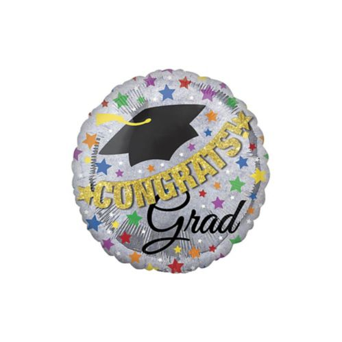 Giant Prismatic Graduation Balloon with Banner, 31-in