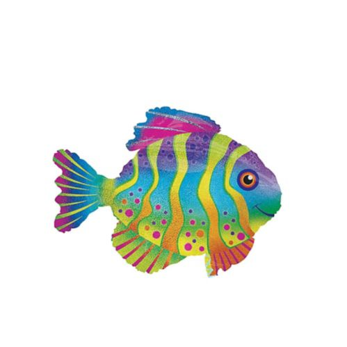 Giant Prismatic Colourful Fish Balloon, 33-in