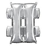 Giant Silver Hashtag Balloon, 27-in | Amscannull